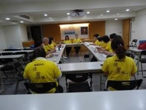 福田讀書會第二組組長賴碧華副督導長帶領導讀工作報告。